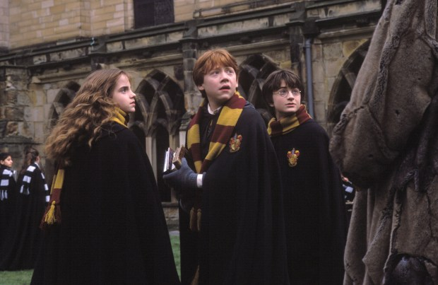 """Harry Potter and the Chamber of Secrets,"" starring, from left, Emma Watson, Rupert Grint and Daniel Radcliffe, will screen accompanied by the Pacific Symphony on Friday, May 12, and Saturday, May 13, at the Segerstrom Center for the Arts. (File photo courtesy of Warner Bros.)"