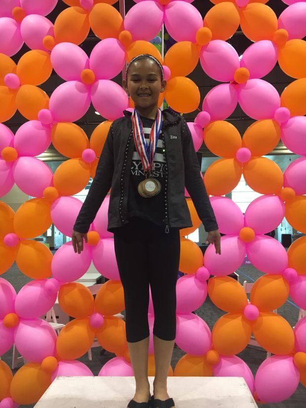 Zita Conot wins silver and bronze at Regionals (photo courtesy of Blanca Conot)