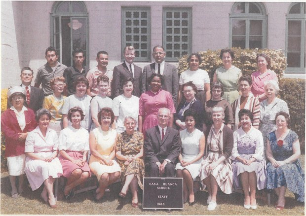 Hazel Russell's Casa Blanca School class in 1963. This was four years before the school was closed to implement the school district's desegregation program. Courtesy of Roberto Murillo