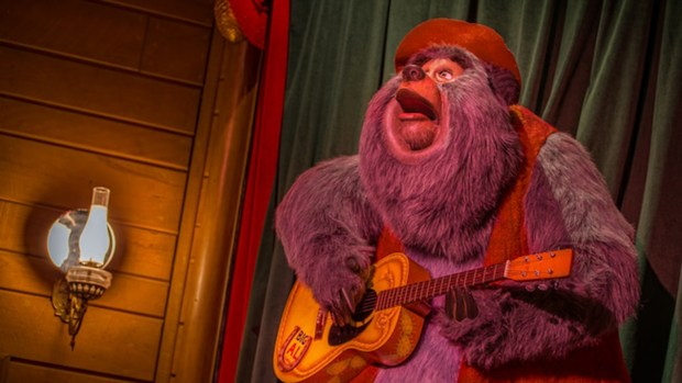"""Big Al sings """"Blood on the Saddle"""" during the Country Bear Jamboree show in Frontierland at the Magic Kingdom of Walt Disney World. (Photo courtesy: Walt Disney World Resort)"""