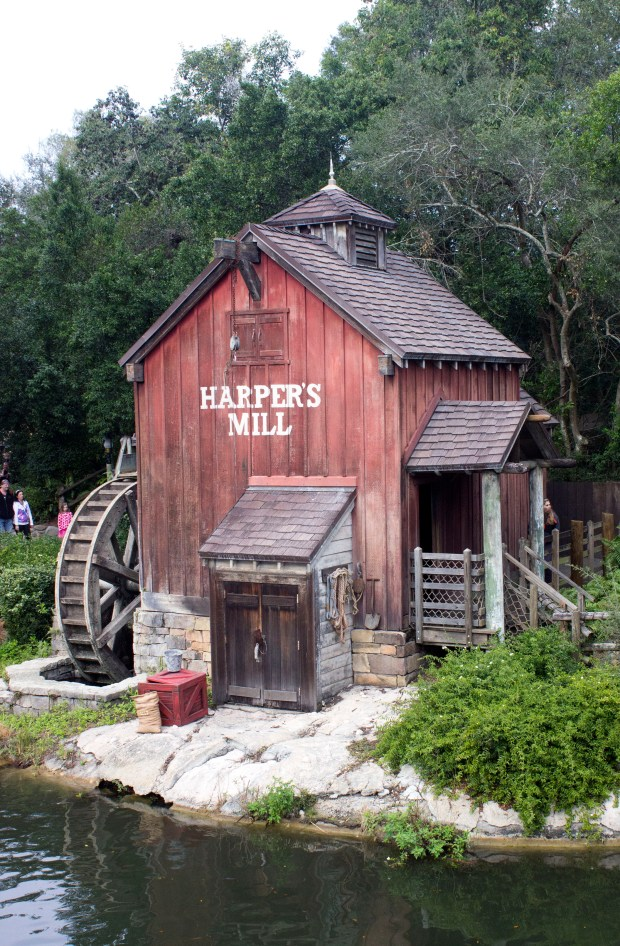 Harper's Mill sits on the south end of Tom Sawyer Island in Frontierland at the Magic Kingdom of Walt Disney World. (Photo by Mark Eades, Orange County Register/SCNG)