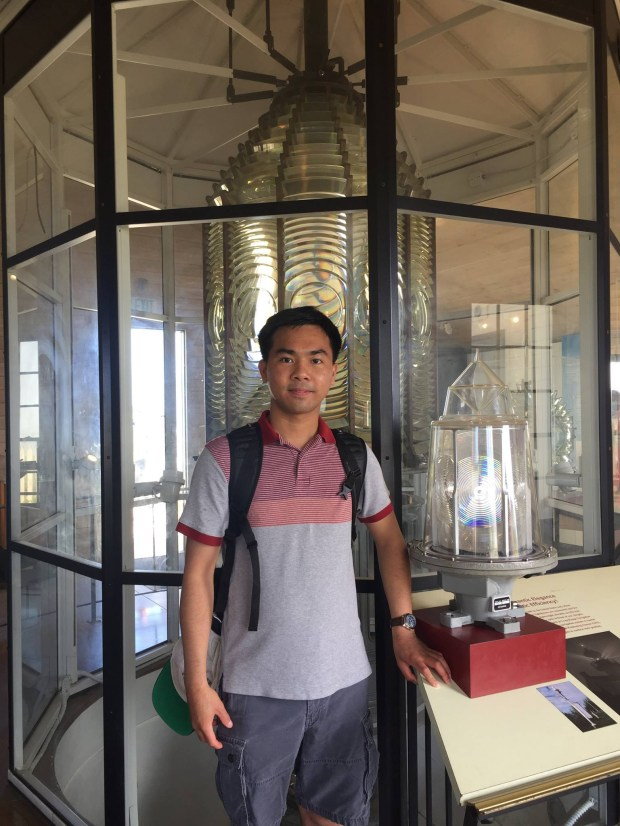 Cal State Fullerton student Loi Nguyen, headed to doctoral studies at Princeton, sees a light at the end of the tunnel. (Photo courtesy of Loi Nguyen)