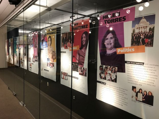 An exhibit at Cal State Fullerton's Pollak Library features the oral histories of nine Latina activists. (Photo by Wendy Fawthrop, The Orange County Register/SCNG)
