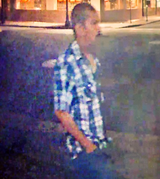 Santa Ana Police are searching for this man who sexually assaulted an intoxicated woman leaving a downtown bar early Sunday, May 21. The encounter was caught on surveillance video which investigators have released to the public Tuesday, May 23, 2017. (Photo Courtesy of Santa Ana Police Department)