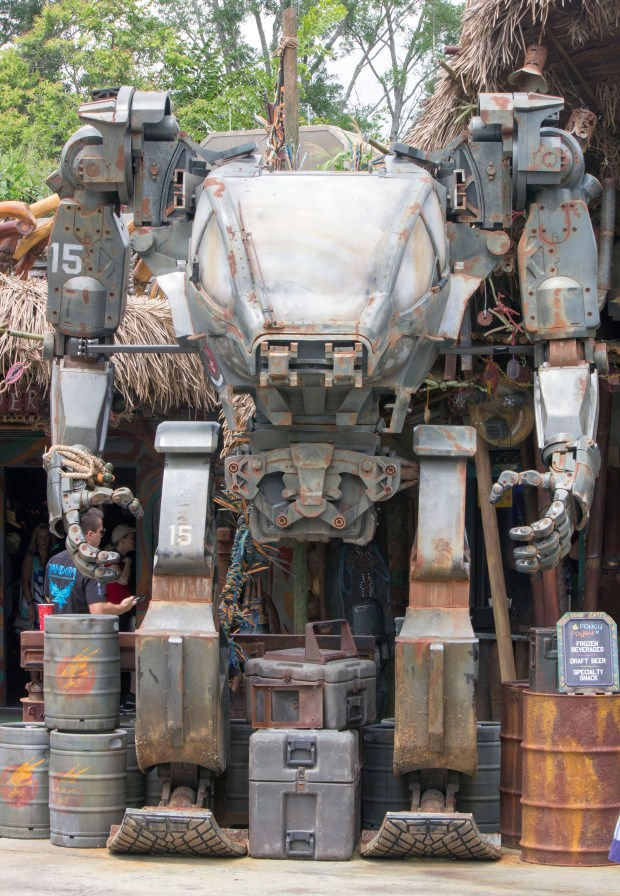 "A remnant of a military fighting machine as seen in the science fiction movie ""Avatar"" can be found in Pandora: The World of Avatar land at Disney's Animal Kingdom theme park in Florida. The 12-acre immersive land is set 30 years after the events depicted in the 2009 movie, after the invading armies of the Resources Development Administration from Earth have been defeated. (Photo by Mark Eades, Orange County Register/SCNG)"