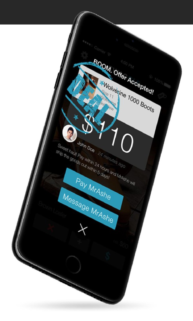 The Swaggle app takes a commission from each transaction. (Photo courtesy of Swaggle)