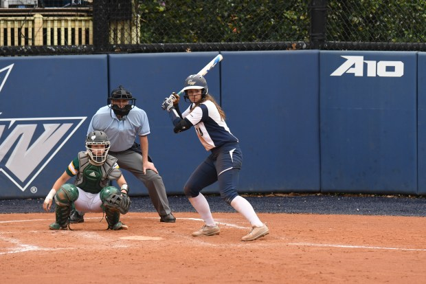 Santa Margarita High graduate Jenna Cone - a freshman at George Washington University - was named to the National Fastpitch Coaches Association All-Mid-Atlantic First Team. (Photo courtesy of George Washington University)