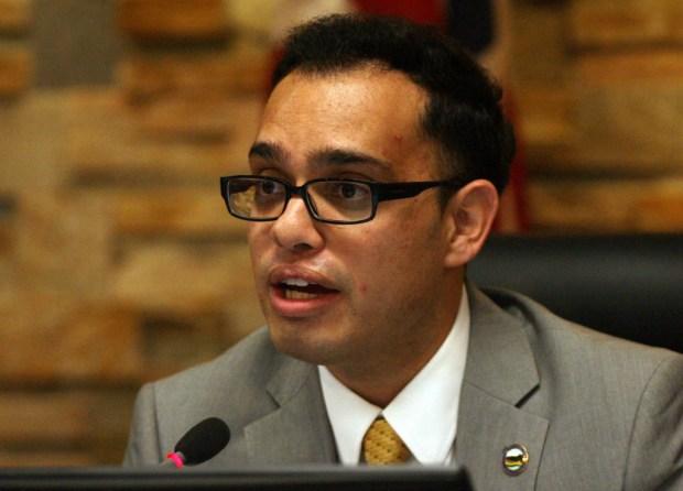 Moreno Valley Mayor Yxstian Gutierrez.