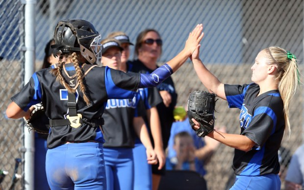 The Norco softball team is looking to become the first undefeated Division 1 champ since 1985. (Photo by Mark Dustin, Contributing Photographer)