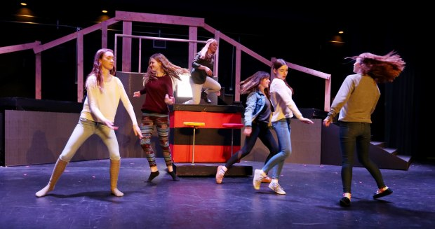 "Vista Murrieta High School Performing Arts students rehearse for their musicals ""Footloose"" starting Feb. 9. at Vista Murrieta High School in Murrieta Wednesday, Jan. 18, 2017. FRANK BELLINO, THE PRESS-ENTERPRISE/SCNG"