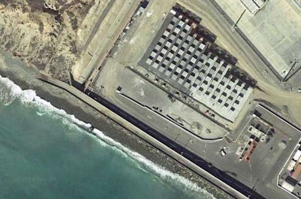 This Google Earth image shows how close the expanded dry storage area for spent nuclear waste will be to the shoreline at San Onofre Nuclear Generating Station. (Image courtesy of Google Earth)