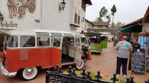 Classic buses and bugs were on display at the second VW d'Elegance car show at Old World Village in Hungtington Beach. COURTESY BRIAN STANLEY