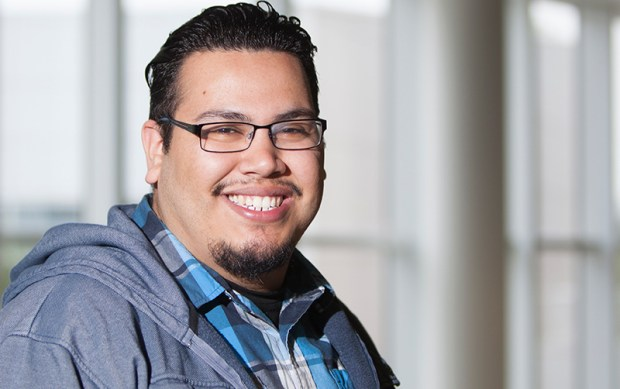 Vicente Mata spent seven weeks conducting research at UC Santa Barbara last summer as a student in the McNair Scholars program at Cal State Fullerton. He's now heading to UC Merced to pursue a doctorate in sociology. (Photo courtesy of Cal State Fullerton)