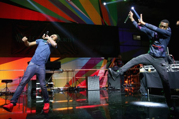 Rising hip hop star Desiigner (left) performed on the BETX Main Stage during the 2016 BET Experience in downtown Los Angeles. (Photo by Jesse Grant, Getty Images for BET)
