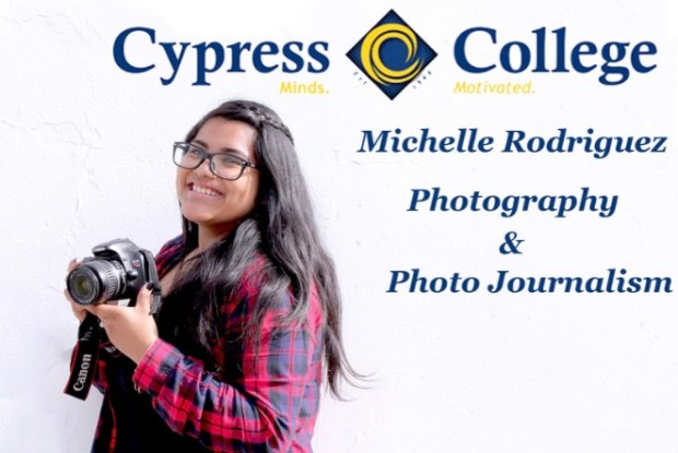 Michelle Rodriguez, SantiagoCypress College: photography major; business administration, minor (Photo courtesy of Michelle Rodriguez)