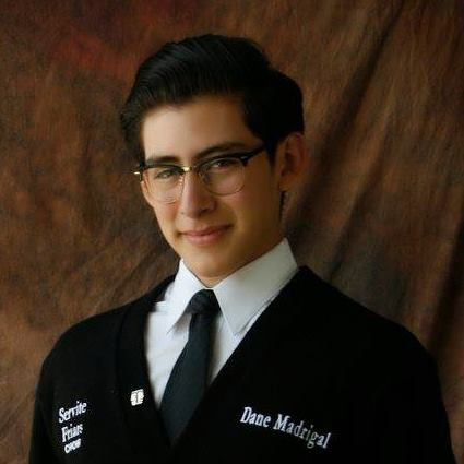 Dane Madrigal, ServiteWestminster Choir College: music education and sacred music (Photo courtesy of Dane Madrigal)