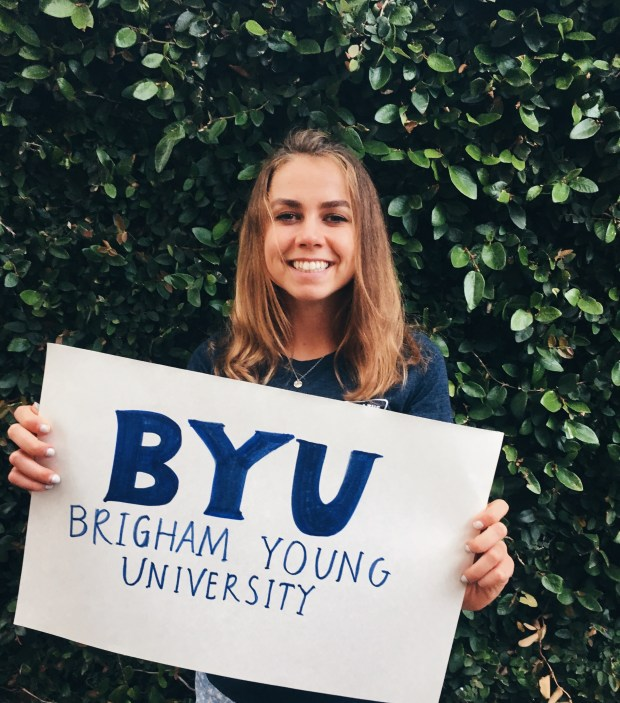 Ellie Glade, Laguna BeachBrigham Young University: biology, undeclared major; theatre studies, undeclared minor (Photo courtesy of Ellie Glade)
