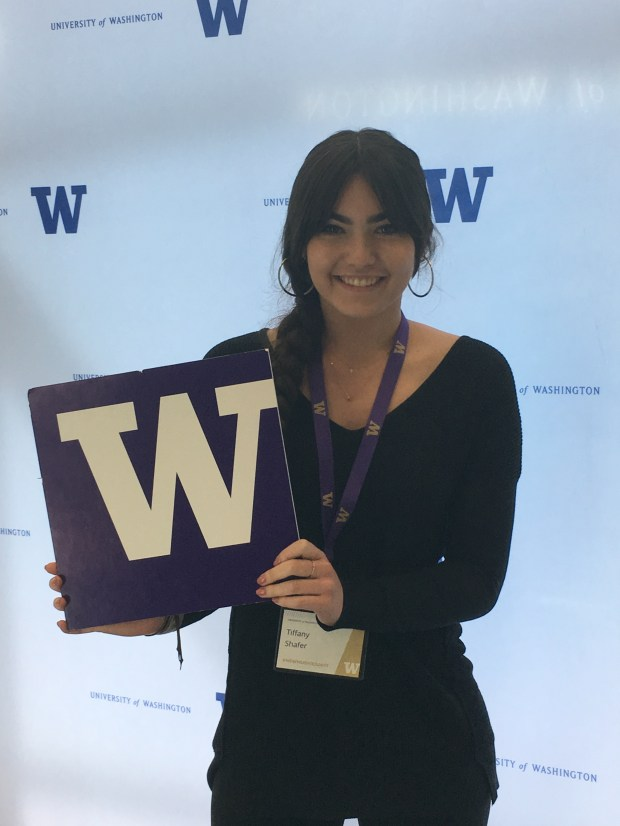 Tiffany Shafer, OCSAUniversity of Washington: psychology, undeclared major (Photo courtesy of Tiffany Shafer)