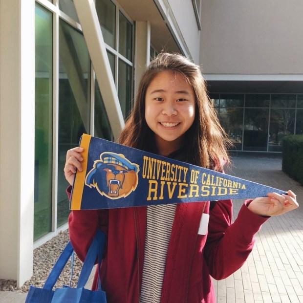 Lauren Wong, KennedyUC Riverside: history (Photo courtesy of Lauren Wong)