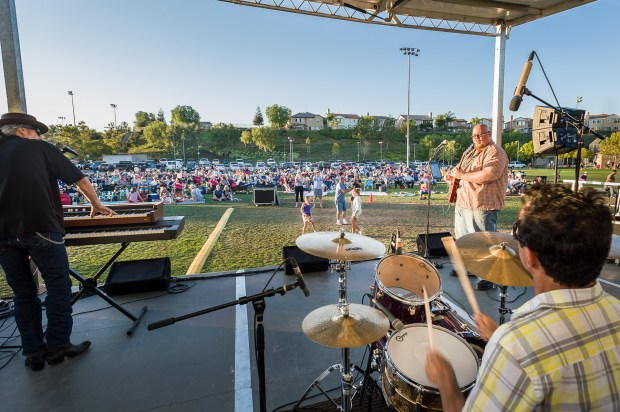 Fullerton's annual Concerts in the Park series is held at the Fullerton Sports Complex. (File photo by Frank D'Amato, Contributing Photographer)