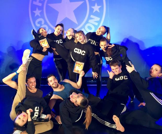 Huntington Beach APA commecial dance students at the Hollywood Connection dance convention in Las Vegas in April 2017. (Photo courtesy of Andrea Taylor)