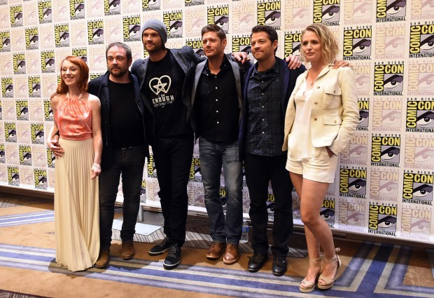 The cast of Supernatural at the Hilton San Diego Bayfront during Comic-Con weekend in San Diego, CA., Sunday, July 24, 2016. (Staff photo by Jennifer Cappuccio Maher/Southern California News Group)