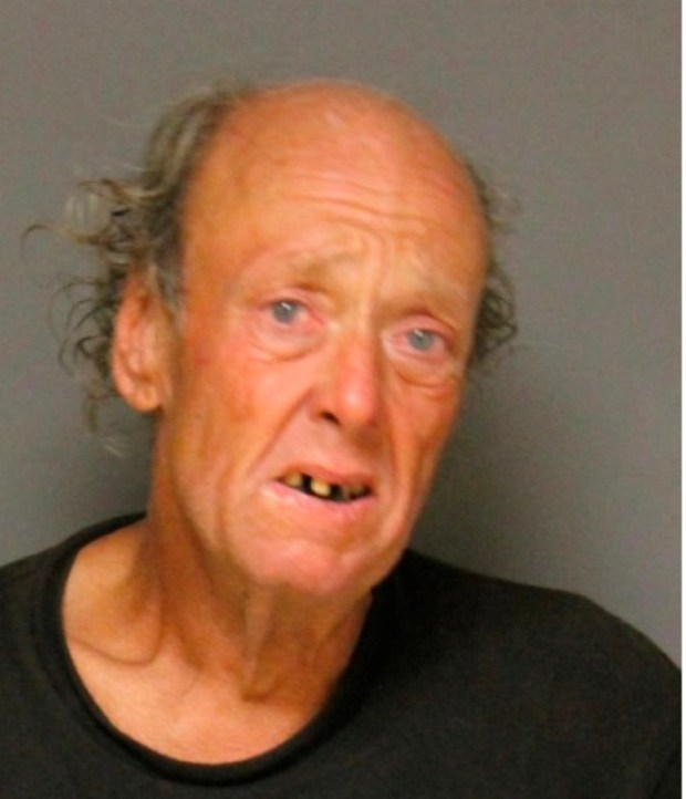 David Michael Gregory, 58, a transient in Fullerton was arrested Wednesday, June 14, after brandishing a replica firearm at a train. (Photo Courtesy of the Fullerton Police Department)