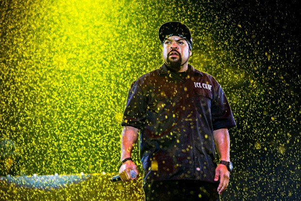 Ice Cube (aka. O'Shea Jackson) seen at the 2016 Festival d'ete de Quebec in downtown Quebec City on Saturday, July 9, 2016, in Quebec City, Quebec, Canada. (Photo by Amy Harris/Invision/AP)
