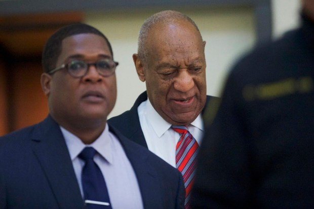 Bill Cosby arrives at the Montgomery County Courthouse for his sexual assault trial Wednesday, June 7, 2017, in Norristown, Pa. (Mark Makela/Pool Photo via AP) ORG XMIT: NYAG108