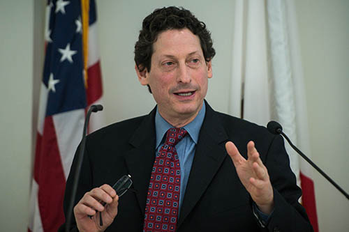 "Brian Levin, who heads the Center for the Study of Hate and Extremism at Calstate San Bernardino, has observed the slow but sure rise of the radical left. He's seen the symptoms with online recruiting and flyers around local college campuses. ""Left-wing extremism is now officially on the radar,"" Levin said. (File photo by Sarah Reingewirtz, Pasadena Star-News/SCNG"