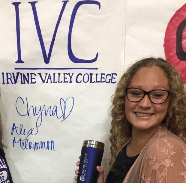 Chyna Gudgel, Huntington BeachIrvine Valley College: theatre arts major; dance, minor (Photo courtesy of Chyna Gudgel)