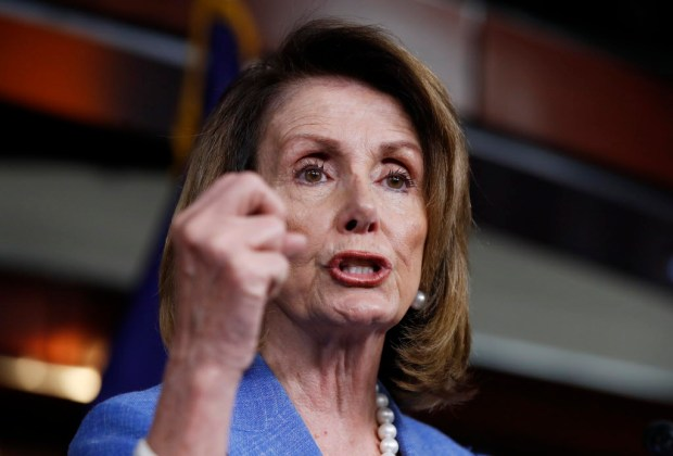 House Minority Leader Nancy Pelosi of Calif. speaks to reporters during a news conference on Capitol Hill in Washington, June 22, 2017. (AP Photo/Manuel Balce Ceneta)