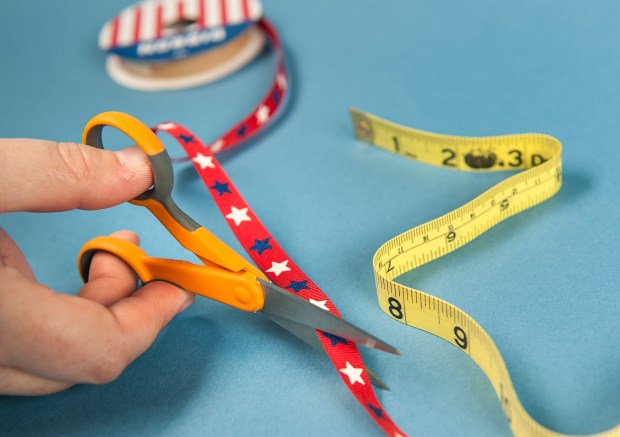 Step 3: Cut a variety of ribbon strands ranging in length from 15 inches to 30 inches. Wednesday, May 31, 2017. (Photo by Nick Agro, Orange County Register/SCNG)