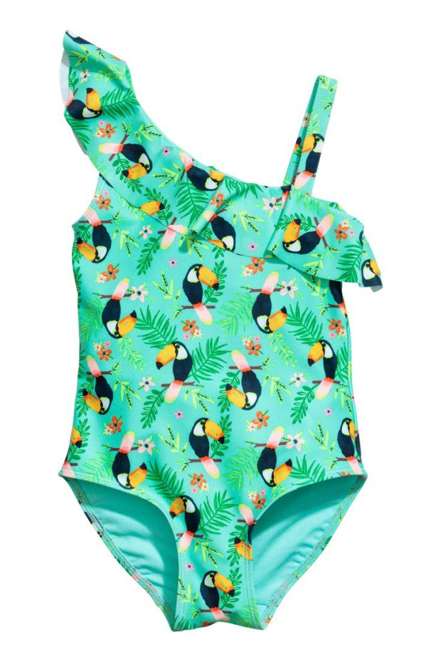 Toucan and palm trees swimsuit, H&M, $17.99 (handout photo)