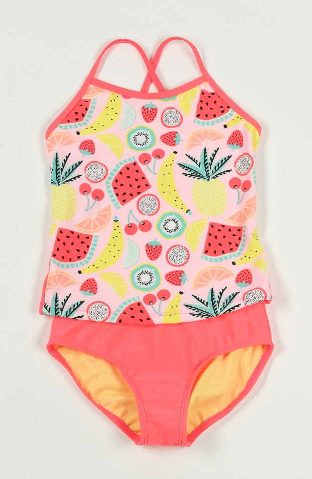 Cat & Jack fruit salad tankini, Target, $19.95. May 18, 2017. (Photo by Nick Agro, Orange County Register/SCNG)