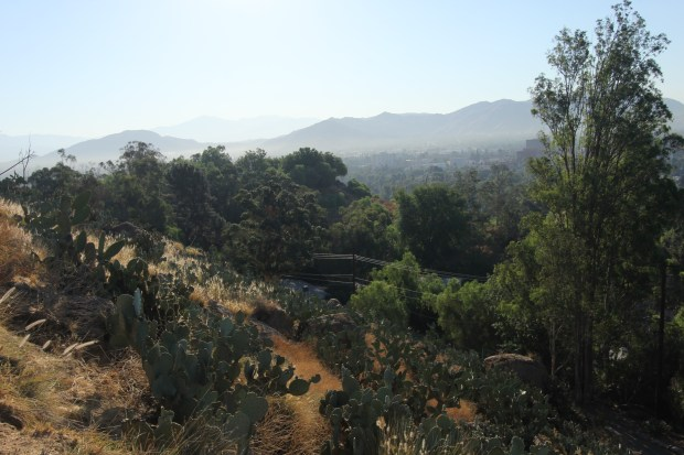 This is a present-day view of the knoll upon which the Hotel Rubidoux was set to be built. It is now a private residence.Photo by Steve Lech, contributing photographer