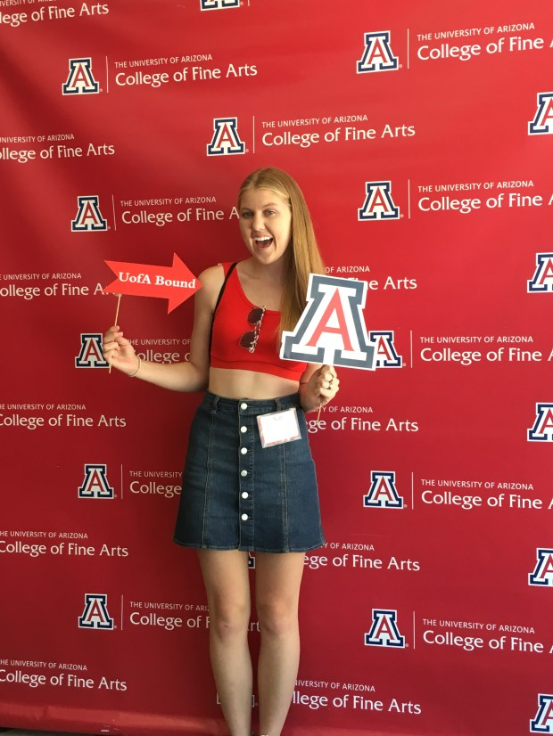 Kat Lewis, Huntington BeachUniversity of Arizona: theatre studies and psychology (Photo courtesy of Kat Lewis)