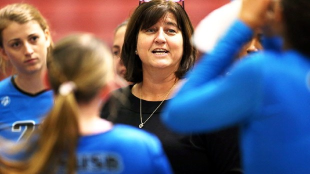 Cal State San Bernardino volleyball coach Kim Cherniss led the Coyotes to their 17th straight NCAA berth and picked up win No. 600.