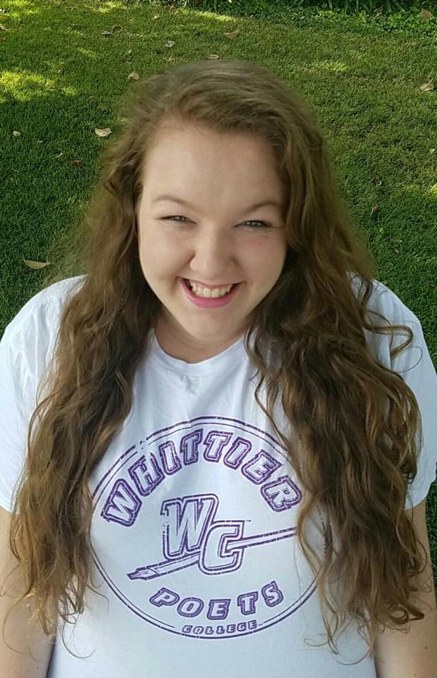 Rhianna McConnell, El DoradoWhittier College: sociology, undeclared major (Photo courtesy of Rhianna McConnell)