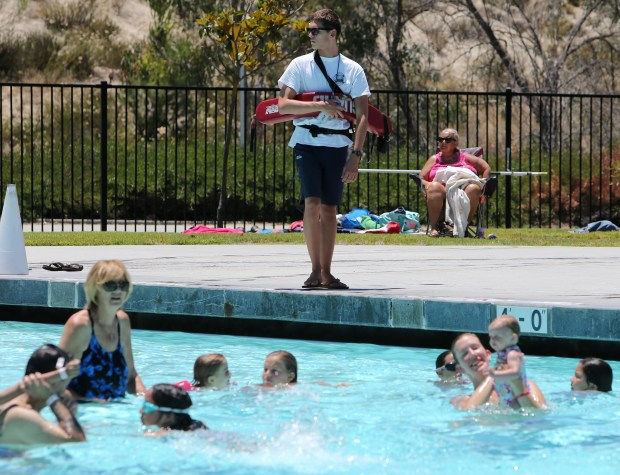 A Life Guards keeps watch over swimmers at the Temecula Community Recreation Center pool in Temecula Thursday, June 15, 2017. FRANK BELLINO, THE PRESS-ENTERPRISE/SCNG