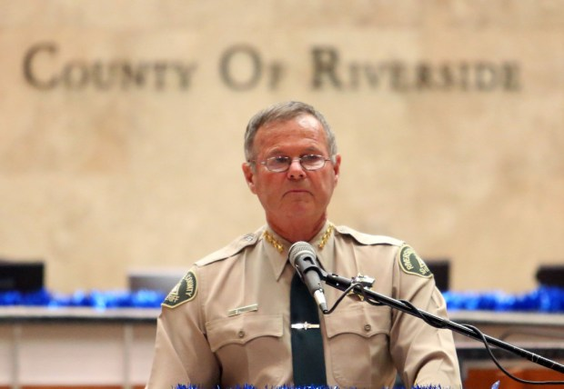Riverside County Sheriff Stan Sniff.