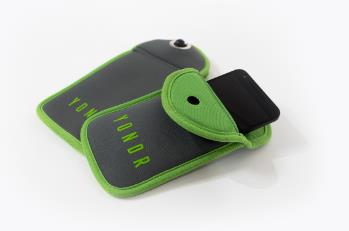 "People attending performances on Chris Rock's ""Total Blackout Tour"" will be required to stow their phones away in pouches like this one during the show. (Photo courtesy of Yondr)"