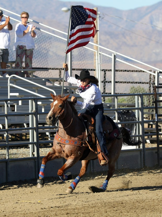 "Cherry Valley's Gracie-Beth Sutton -- who holds several titles, including Miss San Bernardino Sheriff's Rodeo Queen and Banning Stagecoach Days Junior All Around Cowgirl --€"" has pursued rodeo since she was 7. Courtesy photo"