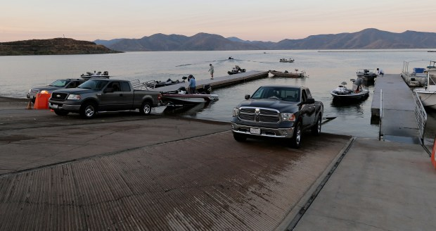 With higher water levels it makes it easier for fisherman to access boat launch ramp at Diamond Valley Lake in Hemet Wednesday, July 12, 2017. FRANK BELLINO, THE PRESS-ENTERPRISE/SCNG