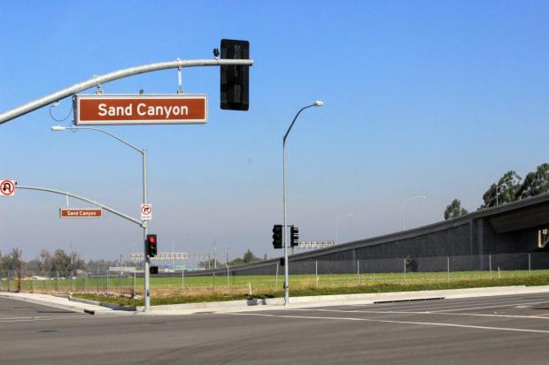 The Irvine Co. is proposing to develop up to 1,710 apartments, a 25,000-square-foot shopping center and a five-acre park on the former Traveland USA site, currently vacant, off the I-5 freeway across Sand Canyon Avenue from La Quinta Inn & Suites. (Photo by Tomoya Shimura, Orange County Register/SCNG)