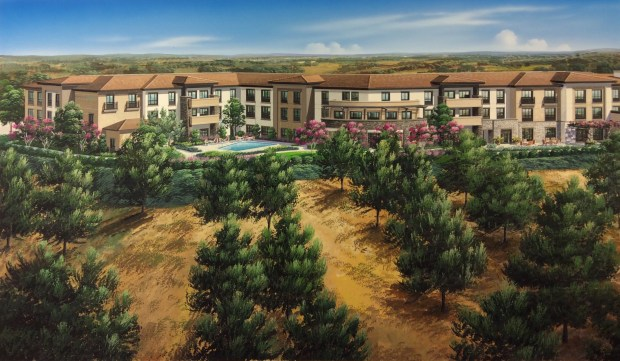 The assisted-living complex is slated to open next year. COURTESY OF BELMONT VILLAGE