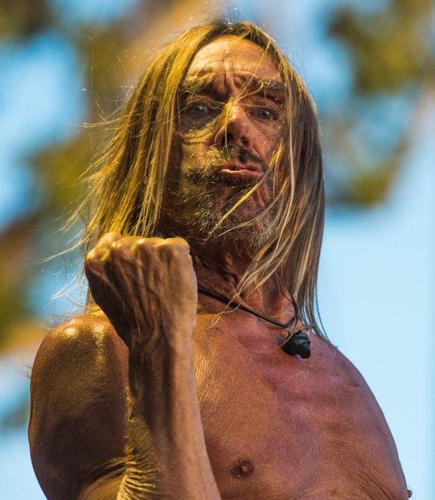 Iggy Pop performs on The Lawn stage at the FYF Festival in Los Angeles Sunday, July 23, 2017.(Photo by Thomas R. Cordova, Daily News/SCNG)