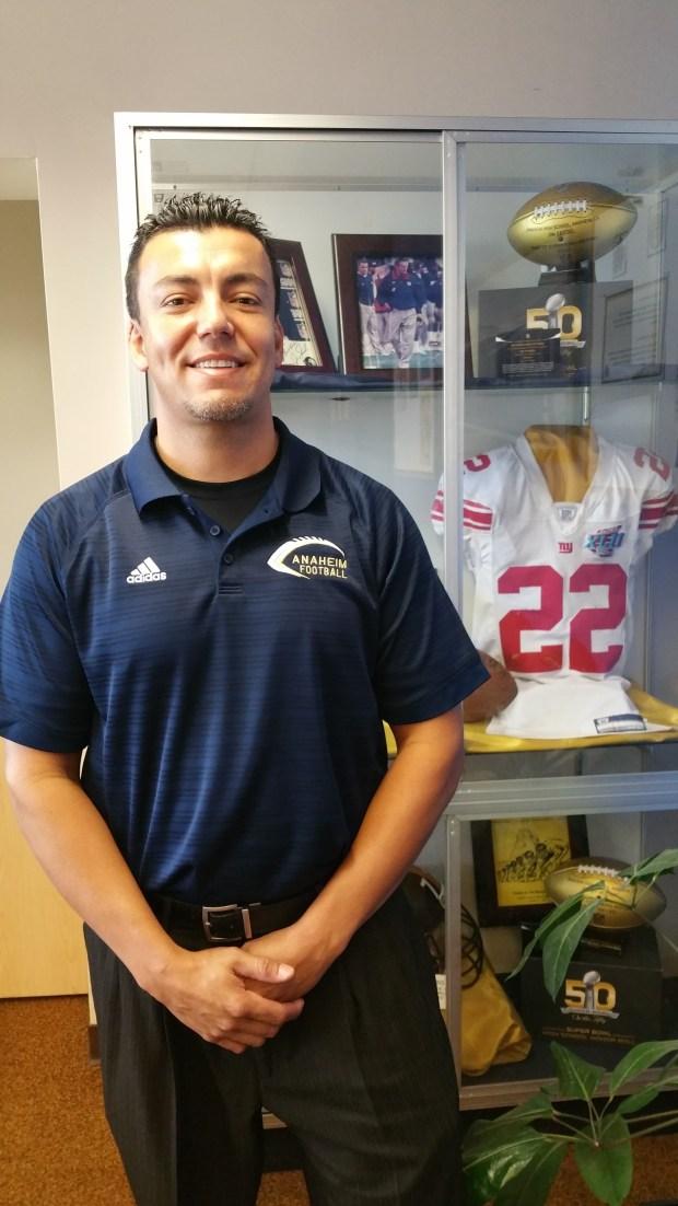 Anaheim High School Principal Robert Saldivar (Photo by Joseph Pimentel, SCNG)