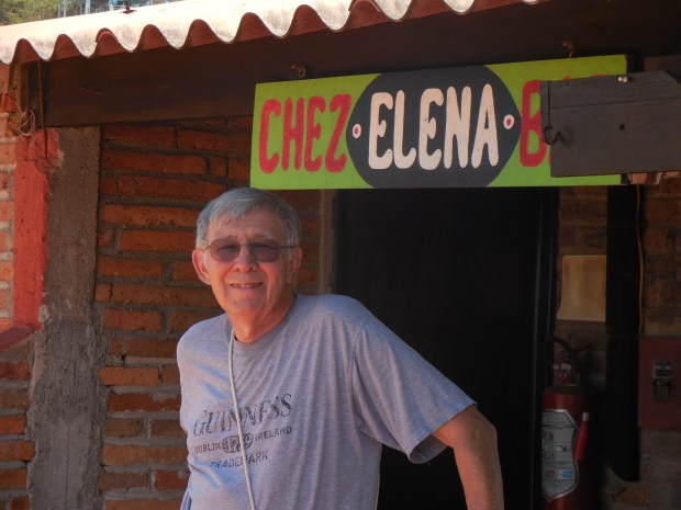 Riverside author, educator and poet Carlos Cortes at his aunt's former restaurant and bar, Chez Elena.  (Courtesy Carlos Cortes)