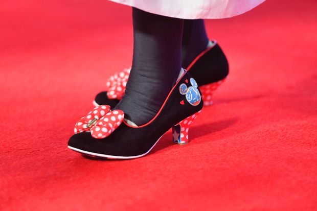 Whoopi Goldberg wears Disney-themed shoes. Goldberg was named a Disney Legend at the D23 Expo in Anaheim, July 14, 2017. (Photo by Jeff Gritchen | SCNG)